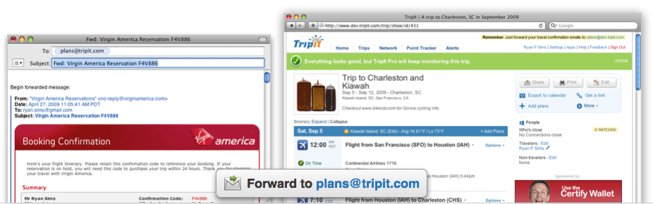 how to create a travel itinerary google